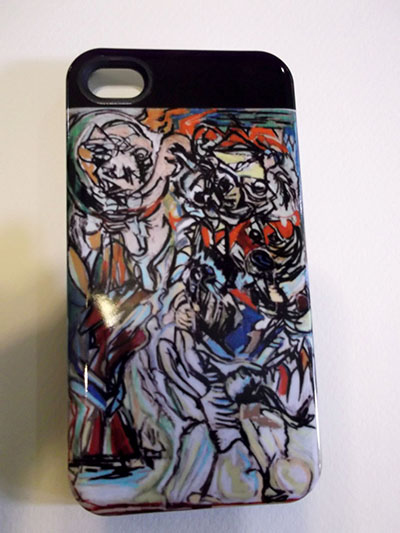 Big Shots: Picasso and Basquiat Hard Case iphone4 cover